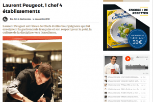 Laurent Peugeot, 1 chef 4 établissements
